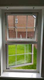 White upvc fire escape window