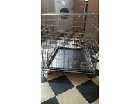 Dog Cage - suit small dogs. Collapses for easy transportation and storage. H52cm L63cm W46cm