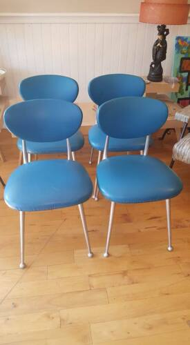 4 Shelby Williams Mid Century Modern Gazelle Chairs- PICK UP ONLY !