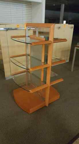 RETAIL GLASS SHELVING MERCHANDISE DISPLAY RACK