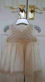 Monsoon Ivory Silk Dress 3-6 Months