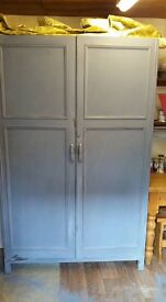 Lovely hand painted / shabby chic gentlemans wardrobe