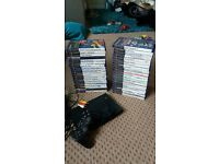 play station 2 + games + 2 memory cards
