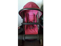 icandy peach 3 frame and peach claret 2016 seat
