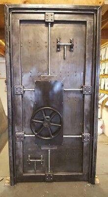 Working Vintage Industrial Bank Vault Door Made In Usa - 027b
