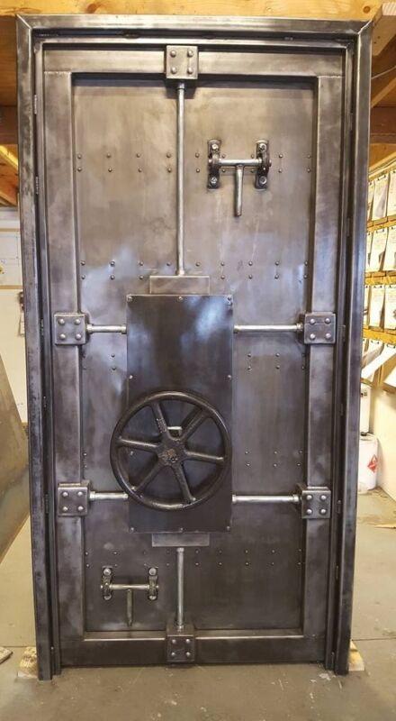 Working Vintage Industrial Bank Vault Door Made in USA - #027b