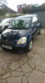 Blue Toyota Yaris 54 Reg - Great condition - Only 2 owners