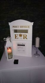 Wedding post box and love heart stand for sale