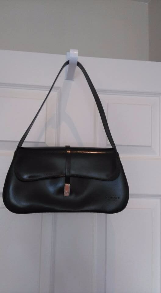 Simone Firenze Genuine Black Leather Bag