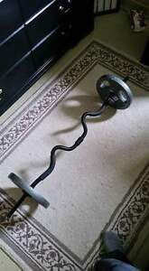 curl bar including weights