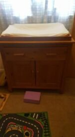 Baby changing unit. Wooden. Excellent condition.