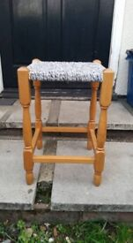 BEECH FRAMED FOOTSTOOL FOOT STOOL 17 inches x 12 inches x 12 inches Lovely modern design Strong