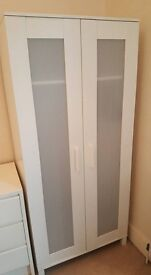 Ikea White Aneboda Wardrobe in Perfect Condition