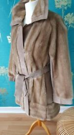 Reduced £25.00 Vintage suede coat..1960's Ladies Coat size 12-14
