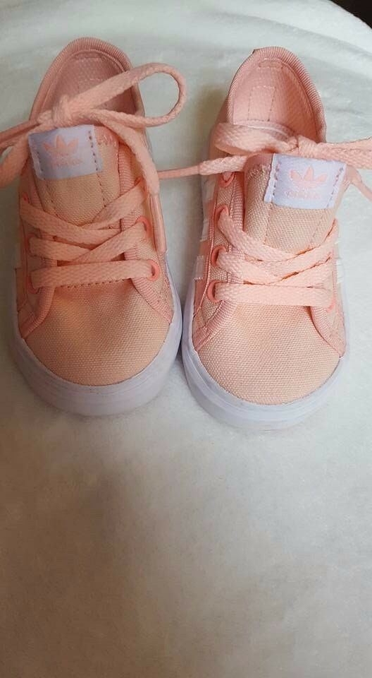 Adidas canvas trainers. size 5K