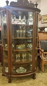 Antique Furniture CHINA BOW FRONT CABINET Strathroy Antique Mall