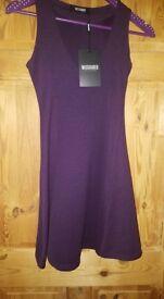 Missguided purple skater dress size 8