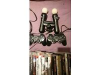 ps3 320gb slim with 29 games + 2 controllers ps3