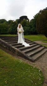 Beautiful handmade lace wedding dress