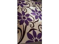 ***Excellent Cond Cream/purple rug***