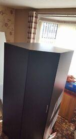 £100 corner wardrobe new