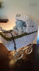 Vintage restored baby carriage for baby shower