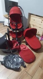 Quinny mood 3in1 travel system: pushchair, pram, carrycot, car seat