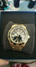 Seiko 9ct Gold Kinetic Motion watch