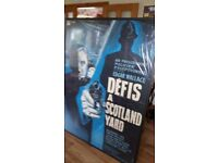 Defis A Scotland Yard .....Large cinema poster. Framed with plastic cover