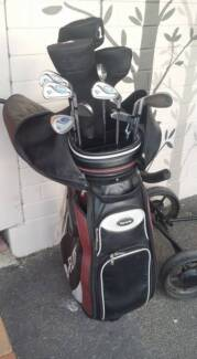 Mens R/H Golf clubs with full leather bag & hand buggy FULL SET!! Kingscote Kangaroo Island Preview