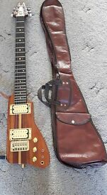 "Kay K45 ""hatchet"" electric guitar, early 1980s, with original gigbag £275 no offers;"