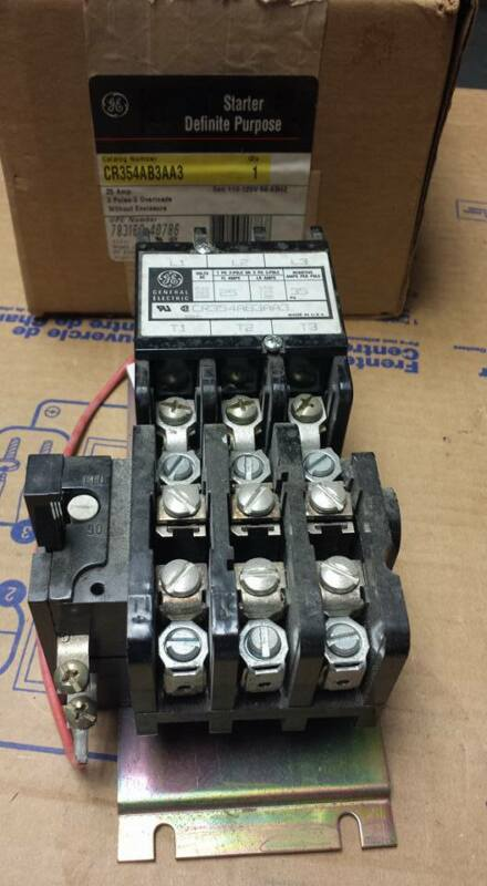 GENERAL ELECTRIC CR354AB3AA3 CONTACTOR   B86
