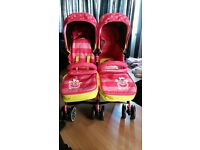Girls twin buggy