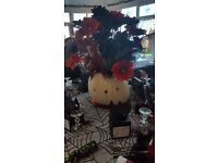 Flowers and feathers used for table centres £85 Collection Beighton near Lingwood / Cantley