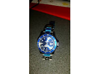 mens blue rolex type watch
