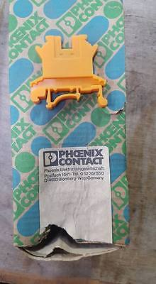BOX OF 5 PHOENIX CONTACT UK 2, 5B ORANGE TERMINAL BLOCKS   W78