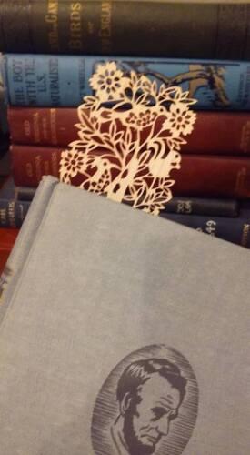 Woodcut Thin Bookmark Victorian Book $