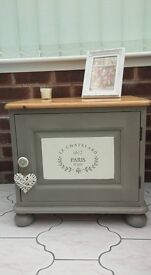 Shabby chic painted rustic pine cupboard