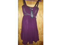 Little Mistress purple dress size 8 new with tags