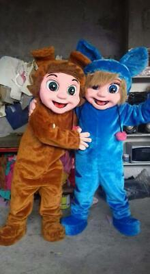 Dave and Ava Nursery Rhymes Characters Mascots Costumes Cosplay Brown, - Nursery Rhymes Costumes