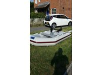 Inflatable boat/dingy, electric outboard and battery