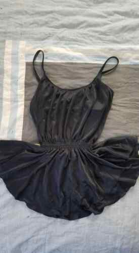 Vtg 80s DeWeese Black Skirted Nylon Swimsuit Bathing Suit M style 32641