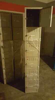 Cube Gym Lockers Steel Set 6 Cubes Storage School Employee Lockers