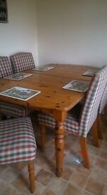 Lovely oak extending table fits eight easy had from new just to big for us now