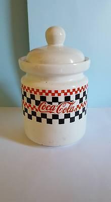 Coca-Cola Brand Dinnerware & Mugs Canister/Jar w/Lid;Gibson; China;1997