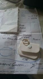 Brand new bespoke wedding ring set with all paperwork