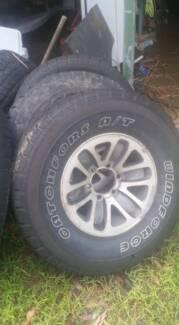 "31"" tyres on 15x7 Alloys 4x4"