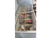 Sliding Glass Lid Chest Display Freezer, White - 493Ltr with 6 double baskets