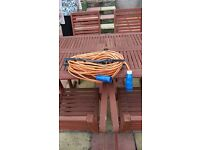 Camping Electric Hook-Up Extension Mains Cable Orange