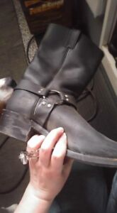 Motorcycle boots leather